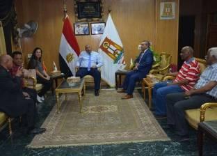 محافظ الوادى الجديد يلتقي وفد منظمة التعاون الدولي بين الجنوب والجنوب
