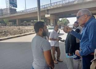 """محافظ الجيزة يتفقد أعمال النظافة على طريق """"إسكندرية"""" الصحراوي"""