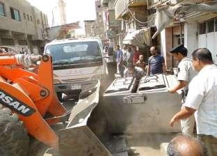 إزالة 71 حالة إشغالات طريق و46 طنا من المخالفات والأتربة في دمنهور
