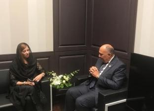 شكري يلتقي نظيره الليبيري ووزيرة التغير المناخي الباكستانية