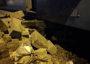 عودة حركة القطارات ببورسعيد بعد خروج عربة عن القضبان