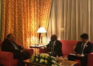 شكري يبحث مع وزير خارجية المالديف تعزيز التعاون الاقتصادي