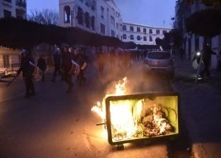 صور| اشتباكات بين الشرطة الجزائرية ومتظاهرين يحتجون على ترشح بوتفليقة