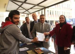بالصور| جامعة عين شمس تكرم الطلاب المتفوقين رياضيا
