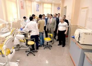 رئيس جامعة المنصورة يتفقد التوسعات الجديدة بكلية طب الأسنان