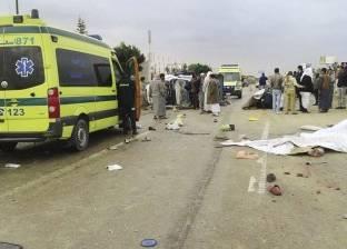 """مصرع صاحب محل ملابس في حادث تصادم بين سيارتين على طريق """"الفيوم - بني سويف"""""""
