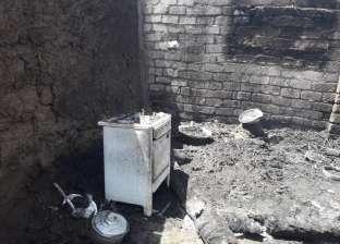 """السيطرة على حريق في 3 منازل بـ""""شطورة"""" في سوهاج"""