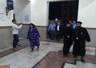 """بدء القداس الإلهي على أرواح """"أقباط ليبيا"""" بكنيسة العور في المنيا"""