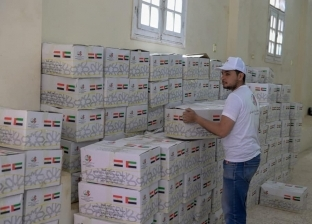 توزيع 1200 كرتونة مواد غذائية من مؤسسة خليفة بن زايد في كفر الشيخ