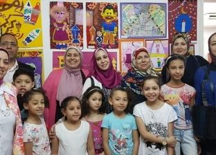 """بالصور  أطفال الإسكندرية يودعون رمضان بـ100 لوحة فنية: """"تم البدر بدري"""""""