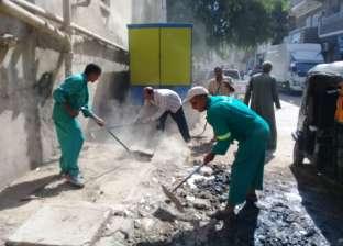 تنفيذ 23 إزالة إدارية خلال حملة مكبرة بشوارع أبوقرقاص