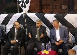 بالصور| محافظا كفر الشيخ ودمياط في عزاء مدير هيئة الأبنية التعليمية
