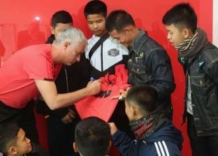 """""""مانشستر يونايتد"""" يستقبل """"فتية الكهف"""" التايلانديين وسط احتفال مميز"""