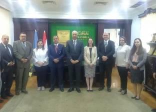 رئيس جامعة الإسكندرية يستقبل وفدا من الجامعات البريطانية لبحث التعاون
