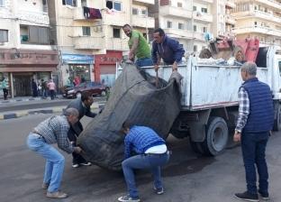 حملة لإزالة التعديات بحي منتزه ثان في الإسكندرية