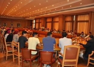 رئيس جامعة حلوان يجتمع بمجلس اتحاد طلاب الجامعة واتحادات طلاب الكليات