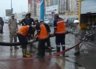 محافظة البحيرة: استمرار سحب المياه من شوارع إدكو