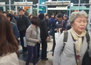 بالصور| مطار القاهرة يستقبل الرحلة الثالثة للسائحين الكوريين