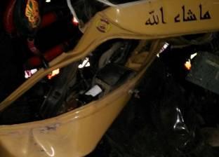 مصرع شخص وإصابة 7 في تصادم سيارتين بالبحيرة