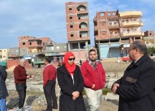 بالصور| رئيس مدينة بلطيم يتابع إنشاء مقر الوحدة المحلية بقرية الربع