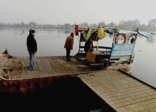 """""""محليات البحيرة"""" تتابع توقف المعديات النيلية عن العمل بسبب سوء الطقس"""