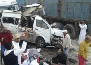 مصرع 3 أشخاص وإصابة 12 في حادث انقلاب سيارة بطريق أسيوط الزراعي