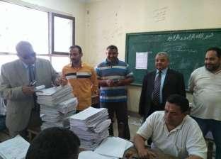 استمرار أعمال المراجعة النهائية بكنترول الشهادة الإعدادية في المنيا