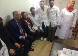 مميش يتفقد حملة مركز الفيروسات الكبدية التابع للهيئة ببورسعيد