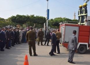 تشييع جثمان شهيد الشرطة ببني سويف في جنازة عسكرية