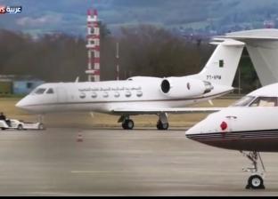 """شهود عيان لـ""""الوطن"""": طائرة بوتفليقة تصل لمطار بوفاريك العسكري بالجزائر"""