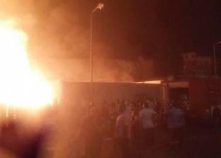 إخماد حريق هائل في شقة سكنية بحدائق القبة