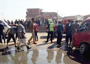 إصابة 10 عمال في انقلاب سيارة ربع نقل بالشرقية