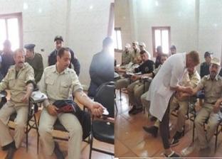 """رجال """"أمن بالشرقية"""" يشاركون في حملة تبرع بالدم"""