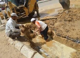تواصل إصلاح أعطال خطوط مياه الشرب بمركز الخارجة في الوادي الجديد