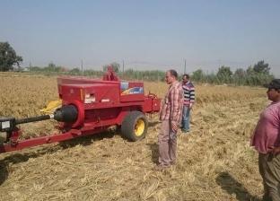 """""""شؤون البيئة"""": تحرير 157 محضرا وحصاد 91% من محصول الأرز بكفر الشيخ"""