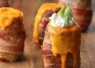 بالفيديو| لعشاق الأكل الصحي.. طريقة عمل البطاطس بالجبنة