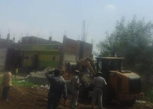 بالصور| إزالة فورية لـ65 حالة تعد على أراضي أملاك الدولة والري بديروط