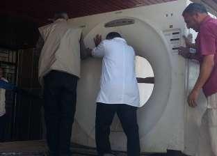 جهاز أشعة مقطعية ومستلزمات طبية تصل مستشفى الشيخ زويد