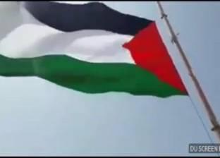 بالصور  أطول سارية بـ25 مترا.. تفاصيل رفع علم فلسطين بمخيمات العودة الكبرى