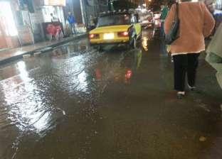 بالصور| تساقط أمطار غزيرة في الإسكندرية وغرق بعض الشوارع
