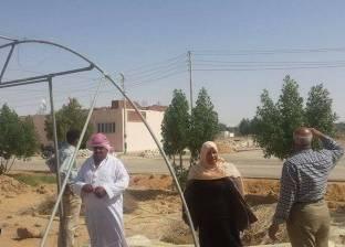 """إنشاء 20 صوبة زراعية في قرية """"عزب القصر"""" بالوادي الجديد"""