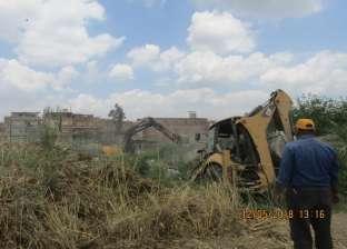 إزالة 10 محلات تجارية وقاعات أفراح بكورنيش النيل بمركزي زفتى والسنطة