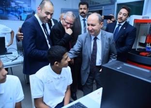 وزير التجارة يفتتح مدرسة زين العابدين الفنية المتميزة
