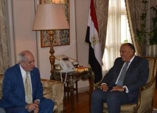 سامح شكري يستقبل نائب وزير خارجية اليوناني