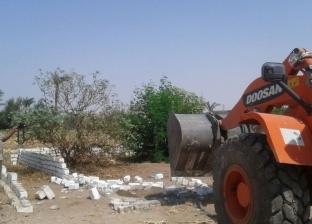 تنفيذ 12 قرار إزالة تعديات على أراض زراعية بساحل سليمفي أسيوط