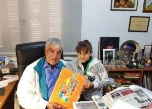«دنيا» رسامة المشاهير في سن الـ11 عاما: بطور من نفسي وأخواتي بيقلدوني (فيديو)