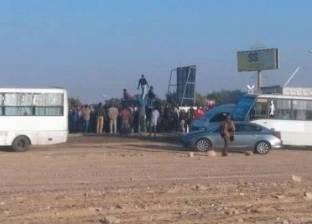 إصابة 14 في حادث انقلاب سيارة بالمنيا