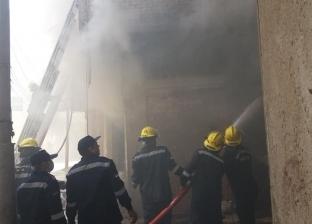 الدفع بسيارات مطافي إضافية لإخماد حريق بمنزل في المحلة