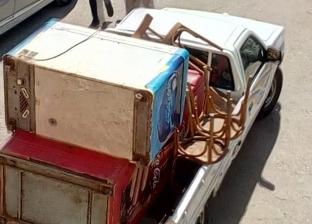 إزالة 38 حالة إشغال في كفر سعد