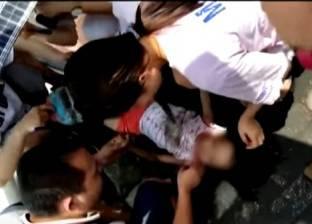 بالفيديو  لحظة دهس طفلة في التاسعة من عمرها